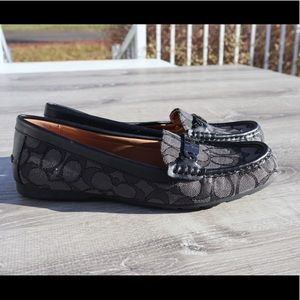 Coach grey black loafers